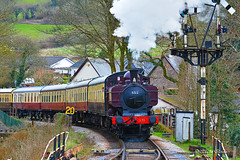 Steam Locomotive L92 (Mike Slade.) Tags: buckfastleighstation gwr greatwesternrailway godswonderfulrailway heritagerailway steamengine steam locomotive ©mikeslade