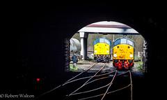 "Big ""D"" (Mirrorfinish) Tags: class 40 40012 40106 eastlancashirerailway bury railway train locomotive englishelectric"