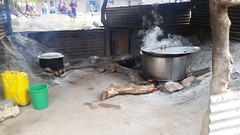 Adjumani St. Mary's Assumpta School - Kitchen with 3-stone fire (FAO Forestry) Tags: fao un uganda refugees unhcr world bank environment energy south sudan woodfuel forestry