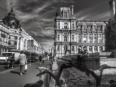 Perspective on Rue de Rivoli (LUMEN SCRIPT) Tags: france architecture monochrome road people paris streetphotography city light shadow blackwhite silhouette lumenscript