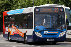 GX58 GNO, St Georges Road, Portsmouth, June 23rd 2017 (Southsea_Matt) Tags: gx58gno 27565 route23 alexanderdennis enviro300 adl e300 stgergesroad portsmouth england unitedkingdom hampshire june 2017 summer canon 80d stagecoach southdown bus omnibus vehicle transport