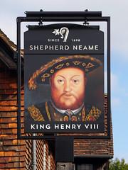 Hever, Kent (cherington) Tags: shepherdneame hever kent kinghenryviii pictorialsigns pubsigns traditionalpubsigns englishpubsigns england unitedkingdom socialhistory innsigns