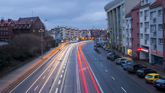 Early morning traffic (HansPermana) Tags: szczecin stettin poland polen polska westpomeranian zachodniopomorskie city cityscape citycenter street traffic