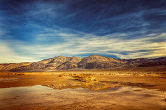 Panamint Mountain Reflections (KPortin) Tags: panamintmountains deathvalleynationalpark reflections water panamintvalley highway190