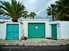 Green: Garage (Steve Brewer Photos) Tags: lanzarote spain playahonda garage green colour color doors architecture palmtrees