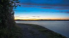 Just Around the Corner (Jens Haggren) Tags: sea seascape sunset evening sky clouds water path landscape view nacka sweden olympus em1 jenshaggren