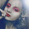 In web (Anastasia Babanska) Tags: web spider gothic blood weird different portrait people selfie red lipstick eyes creepy