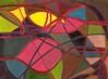 Una Maschera nello Spazio #07 - Artist: Leon 47 ( Leon XLVII ) (leon 47) Tags: mask space abstract painting metaphysical metafisica metaphysics enigma surrealism surrealismo triangulism art triangolismo arte astratta windows finestre minimalism minimalismo maschera leon 47 xlvii spazio