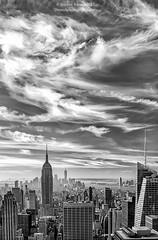 Peaks of Manhattan (Dwood Photography) Tags: manhattan nyc new york city newyork newyorkcity ny bw black white blackandwhite buildings dwoodphotography dwoodphotographycom 2017 peaks peaksofmanhattan empire state building empirestatebuilding