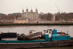 A view of the River Thames (Massimo Usai) Tags: 2018 england europe london londonist march travel toweroflondon decay history riverthames boat city sky water building castle