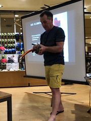 Manoeuvring with an ice axe - high altitude gear with Stuart Leonard at R.O.X. Manila (Kindred has left the building) Tags: rox stuartleonard climber mountaineer