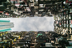 Up the Clouds - Hongkong 130/188 (*Capture the Moment*) Tags: 2017 balconies balkone courtyard flats fotowalk hongkong houses innenhof sonya7m2 sonya7mii sonya7mark2 sonya7ii sonyfe2470mmf4zaoss sonyilce7m2 wohnungen urbanliving