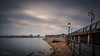 Old Portsmouth II...... (inkslinger15) Tags: bigstopper le leefilters longexposure old portsmouth ferryport smooth lights harbour wall pebbles railings clouds