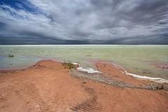 Gathering Storm Over Lake Menindee_0409 (Irwin Reynolds photo eXpressions) Tags: lakemenindee stormcloudsoverlakes stormcloudsoverwater stormclouds gatheringstorms storms stormsoverlakes murraydarlingriversystem inlandlakes outbackaustralianlakes australianlakes outbackaustralia outbacknewsouthwales weather shorelines