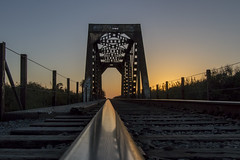 Sunset out of Ventura (Z. Abbey) Tags: sunset cloudsstormssunsetssunrises venturacounty ventura railroad railway traintracks eos canoneos80d 80d canon canon80d canonphotography california southerncalifornia bridge railwaybridge
