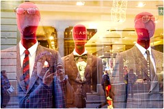 Suit up! (Steve Lundqvist) Tags: model modello manichino mannequin models window glass shop shopping clothes darkness face portrait fujifilm x100s reflection street streetphotography strada negozio store light shine frame border milan milano fashion moda cool suit dress code dressing italy brand dg family group montenapoleone trend royal