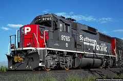 Speed Lettering a Good Fit (jamesbelmont) Tags: emd gp60 southernpacific rodvm train railroad railway orem utah
