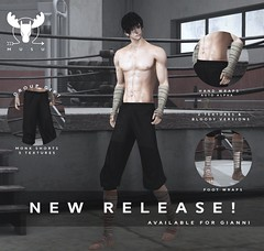 -MUSU- New Releases! And Gift! (MistahMoose) Tags: secondlife gianni monk wraps tough male musu