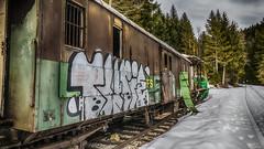 Billet retour ! (Fred&rique) Tags: lumixfz1000 photoshop hdr train neige doubs paysage nature hiver