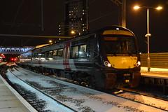 170105 and 170397 Wolverhampton 18/03/2018 (Brad Joyce 37) Tags: 170105 170397 1v67 crosscountrytrains class170 dmu wolverhampton station night snow passenger train nikon d7100