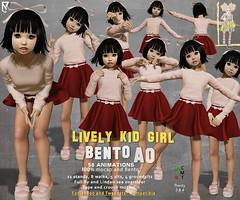 Tuty - Lively Kid Girl AO updated to Bento version (TUTY Bento Animations) Tags: bento hand shape avatar small toddleedoo childish children second life kids avatars quality