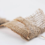 Hemp fabric. Close up of texture . thumbnail