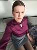 Turtleneck Satin Blouse (Rikky_Satin) Tags: silk satin blouse pencil skirt crossdresser transvestite transgender tgirl tgurl gurl transformation transformed m2f mtf feminization sissy secretary office fashion