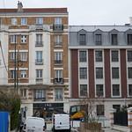 Jointure entre l'ancien et le nouvel immeuble