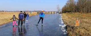 Ossenzijlerroute met de schaats