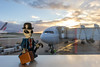 Travelling abroad (Ballou34) Tags: 2017 7dmark2 7dmarkii 7d2 7dii afol ballou34 canon canon7dmarkii canon7dii eos eos7dmarkii eos7d2 eos7dii flickr lego legographer legography minifigures photography stuckinplastic toy toyphotography toys stuck plastic airport sunset suitcase alien space airplane