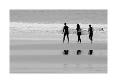 """""""Water, Wax & Wow"""" (The Blue Water Lily's Company) Tags: fdrouet nb bw monochrome monochrom youth surfer plage beach bretagne brittany"""