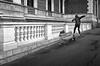 """""""slides and grinds"""" (heinzkren) Tags: wien vienna schwarzweis blackandwhite bw sw monochrome canon powershot urban sport mann man city bank bench street streetphotography trick architecture architektur böse ring ringstrase weg gehweg parapet action scater"""