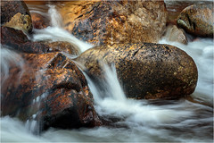 River Coupall in Glen Coe (He Ro. - Off for a while -) Tags: 2017 glencoe scotland rivercoupall intimatelandscape detail boulders rocks water flow river glenetive uk westernhighlands