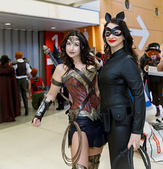 _77A9703-1 (nigel6500) Tags: red comiccon cosplay catwoman nec brunette birmingham