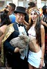 Dr. Takeshi Yamada and Seara (Coney Island sea rabbit). Brooklyn, New York.     20160626Sun Gay Pride Parade. DSCN7091=p2030C2 (searabbit29) Tags: takeshiyamada fineartexhibitions museumcollections famous japanese japaneseamerican artist osaka tokyo japan tv painting sculpture photography graphicdesign sideshow freakshow banner gaff performance fashiondesign fashion tophat jabot jewelrydesign victorian gothic goth steampunk dieselpunk fashiondesigner playboy bikini roguetaxidermist roguetaxidermy taxidermist taxidermy specialeffect cabinetofcuriosities dimemuseum seara searabbit coneyisland mythiccreature cryptozoology cryptid brooklyn newyorkcity nyc newyork