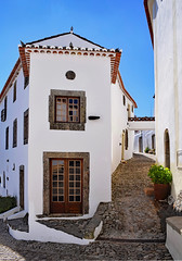 Clear Blue Sky (Jocelyn777) Tags: doors windows doorsandwindows houses whitehouses whitevillages villages historictowns marvao alentejo portugal travel