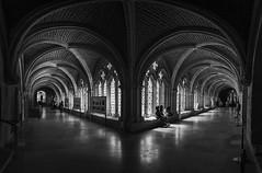 Claustro Bajo... (Catedral de Burgos) (protsalke) Tags: architecture cathedral burgos romanic monochrome lights shadows contrast city panorama catedral claustro byn blackwhite