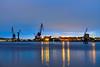 Göteborg blue hour (Petr Horak) Tags: city x100f fuji crane water river harbour harbor bluehour evening watergront reflection lights longexposure gothenburggöteborg götaland sweden swe