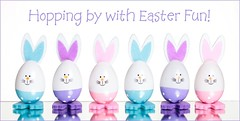 Easter Bunnies (Karen_Chappell) Tags: rabbit bunny bunnies easter holiday white pastel pink blue purple stilllife happyeaster six 6 multicoloured colourful colours colour color spring