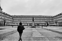 La plaza de Mayor, Madrid, Spain (loganemalie) Tags: madrid exploremadrid spain espagne europe traveleurope travel trip roadtrip explore art blackandwhite photography canon canoneos eos city cityscape citylife landscape explorecity