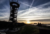 la torre panoramica !! (paolotrapella) Tags: torre panorama rosolina mare sky clouds blu silhouette italy sunset tramonto