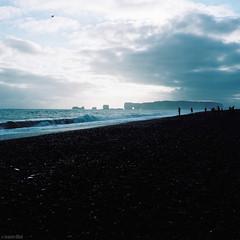 Dyrhólaey & Reynisfjara Beach - Iceland (Toine B.) Tags: dyrhólaey reynisfjara beach iceland argentique film analog pellicule portra rolleiflex black sand landscape sea mer