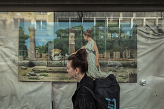 dus (pan struger) Tags: street girl germany dusseldorf hairstyle leica q 28mm window reflection