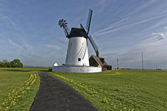 Lytham Windmill & Old Lifeboat House (Patrick Cray) Tags: england lancashire landscape lytham lythamgreen seaside spring seascape windmill ngc
