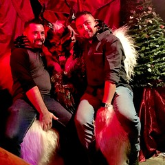 IMG_1619 (danimaniacs) Tags: man guy sexy hot krampus monster horror beard scruff smile red black white christmas