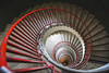 Roter Faden (holzer_r) Tags: staircase wendeltreppe stairs spiral red perspective