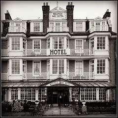 Walpole Bay Hotel (Jason 87030) Tags: walpole bay hotel rooms meal luckh museum hornetsnest visit thanet kent justin view front frontage building architecture history uk england greatbritain unitedkingdom inspector food shot sony ilce alpha a6000 nes bw bbw blackandwhite white black blanc noir frame border mono