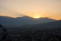 Sunset in Kathmandu Valley (rfabregat) Tags: kathmandu kathmanduvalley katmandu nepal nepalese swayambhunath temple buddha buddhism asia travel travelphotography documentary nikon nikond750 d750 nikkor sunset view landscape sun city