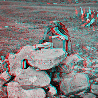 Doon Well at Kilmacrenan in Co. Donegal (anaglyph)