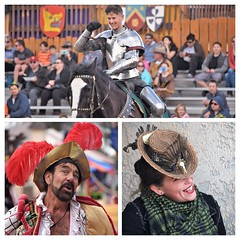 FaireCollage (ONE/MILLION) Tags: vacation travel tours visit phoenix gold canyon apache junction arizona highways colorful costumes people crowds fun entertainment kids family horse joust jousting tournament smile renaissance festival faire fair williestark onemillion